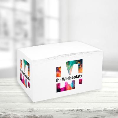 Notizblock Containerform, 4-seitig digital bedruckt
