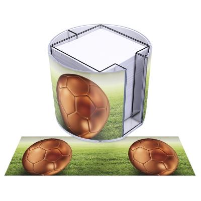 runde Zettelbox - Motiv Fußball