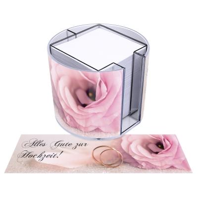 runde Zettelbox - Motiv Hochzeit