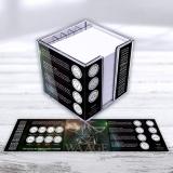 Zettelbox doppelwandig - Motiv Sternzeichen WAAGE